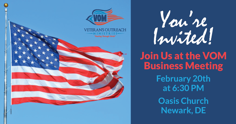 VOM Business Meeting Feb 20, 2020 - Veteran's Outreach Ministries - Delaware