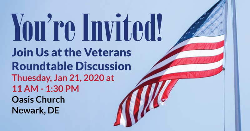 Veteran's Roundtable Discussion Jan 21, 2020 - Veteran's Outreach Ministries - Delaware