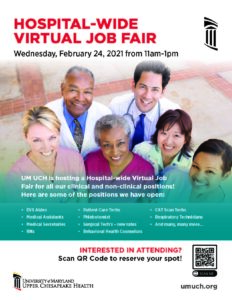 Hospital-Wide Virtual Job Fair